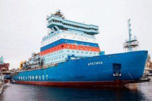 Ледокол Арктика проекта 22220 не смог пройти швартовые испытания