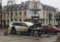 В центре Гатчины горел Toyota Land Cruiser
